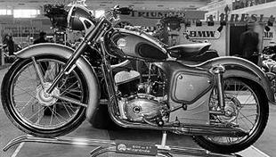 1954 Twin port 200cc Gillet two stroke classic motorcycle