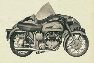Norton Dominator and Dolomite motor cycle and sidecar test