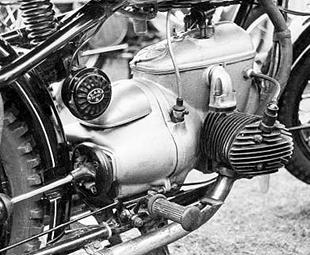 IFA classic motorcycle from Germany had shaft drive