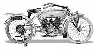 American made Iver-Johnson classic motorcycle was a big v-twin with a 7-8hp engine