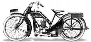 Ixion were another small capacity motorcycle manufacturer. This 'ladies model' Villiers engined bike dates from 1921