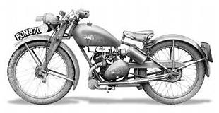 122cc ML Model James classic motorcycle, nicknamed the 'The clockwork mouse'