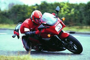 Testing motorcycle on road