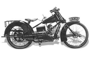 Kenilworth classic motorcycles were produced from 1924. This model is the 'Miniature' featuring an ohv engine