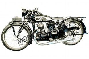 1932 Belgian-built Lady classic motorcycle uses Villiers two stroke engine