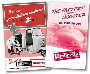Old Lambretta scooter sales brochures