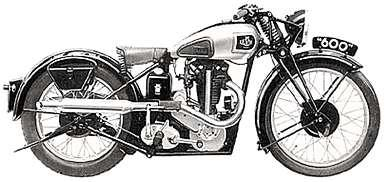 1937 Levis 600cc classic motorcycle, the largest motorcycle the company made