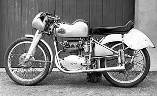 Works 125cc dohc Mondial classic motorcycle prepared for 1953 IOM lightweight TT