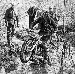 Don Smith in action on his Montesa in 1969 Traders Cup trial