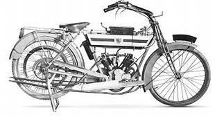 1913 Moto Reve classic motorcycle with two speed gear and chain final drive