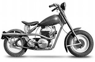 Mustang motorcycle was very popular with youngsters in post-WWII America