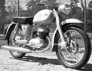 Spanish-made Mymsas are rare classic motorcycles. This is a 175cc example from 1958