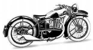 New Hudson changed direction with its motorcycles in the Thirties, with lower engine enclosures