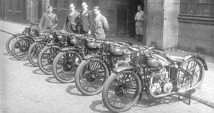 Factory racers ready for the 1927 TT