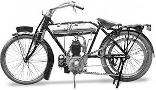 Standard model NLG classic motorcycle with a JAP engine