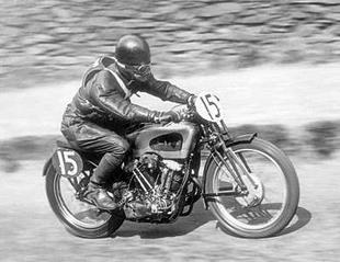 It took a brave man to tame the 500cc v-twin New Imperial motorcycle. One such man was Ginger Wood