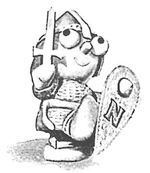 Norman motorcycle mascot