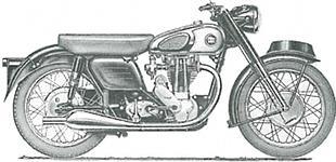 Norton 350 classic British motorcycle
