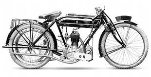 1912 Precision-engined OK motorcycle as ridden by Ev Pratt to ninth in that year's Junior TT