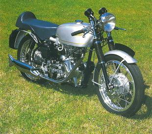 Velocette Thruxton single classic British motorcycle