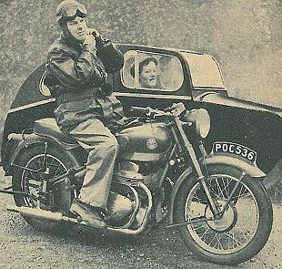 Ariel Sqaure Four and sidecar classic road test