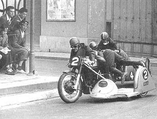 Eric Oliver sidecar motorcycle champion