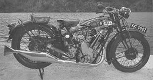 BSA sloper 500cc classic motorcycle
