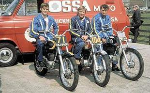 Ossa motorcycle works team for the 1971 SSDT