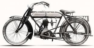 Overseas motorcycle dating from 1913. Unusually, the company built its own engines