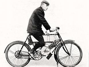 Rare 1903 motorcycle, manufacturede under licence from Phelon and Raynor by Humber
