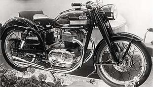 Parilla developed this handsome ohv 350cc motorcycle, shown here at the 1952 Milan show