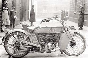 Handsome Pope v-twin motorcycle had plunger rear suspension and ohv v-twin engine