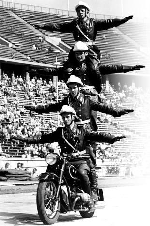 German police practising stunts in 1958