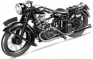 Horizontally opposed side valve flat four Puch was offerde in 1936