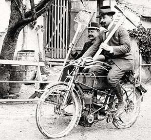 An early Puch being pout to work. Date on the reverse reads 1904