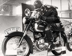 Puch 175VS motorcycle was a typical post-WWII offering