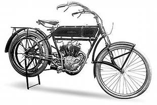 Unusual-forked veteran v-twin 1913 Peugeot classic motorcycle from France