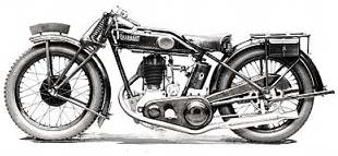 Nearing the end of the line, a 1927 side-valve Quadrant motorcycle