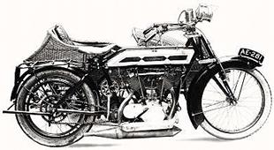 1914 Quadrant motorcycle v-twin, with the firm's own 9hp unit