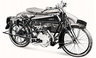 Early Quadrant motorcycle with company's own engine