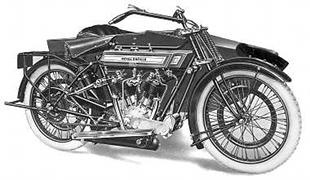 Model 180 Royal Enfield motorcycle and sidecar