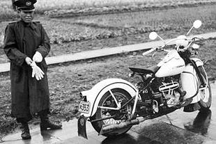 Japanese police used Rikuo v-twin motorcycles