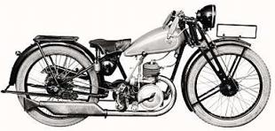 German built RMW 200cc Record motorcycle