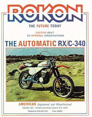 Rkon motorcycle advertsiement from 1975