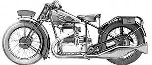 Twin cylinder Royal Standard Swiss motorcycle