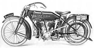 1914 Rudge v-twin classic motorcycle