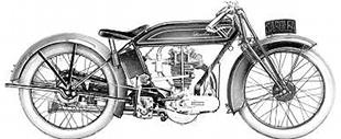 1920s Sarolea splorting motorcycle