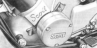 Scott motorcycle engine