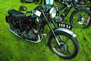 Two speed Scott motorcycle
