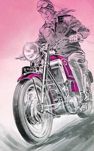 Scott motorcycle brochure for 1959
